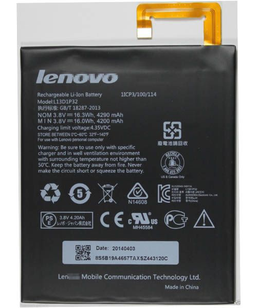 خرید باطری اصلی لنوو Lenovo Tablet A5500 A8-50 L13D1P32